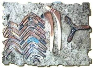 Boomerangs d'aborigènes d'Australie