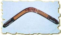 Boomerang de forme aborigène