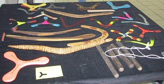 didgeridoos et boomerangs classiques australiens