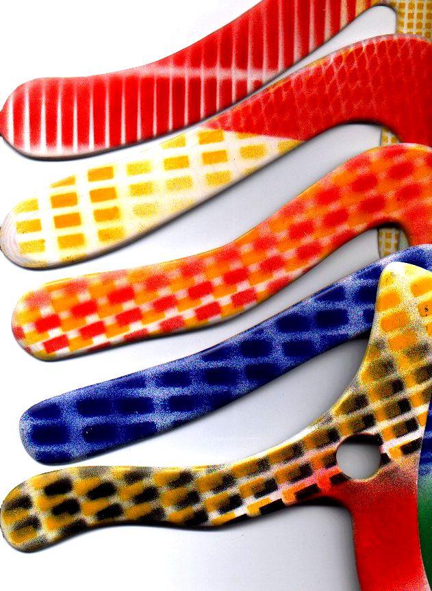 décoration boomerang avec pochoir